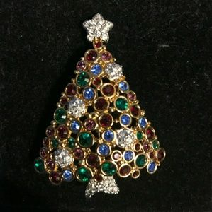 RARE!! Swarovski 1999 Christmas Tree Brooch
